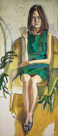 Alice Neel (USA 1900-1984) Priscilla Johnson (1966) oil on canvas 178 × 76.2 cm
