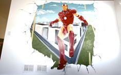 Iron Man Mural done by Green Apple Painting Kids Bedroom Paint, Cool Kids Bedrooms, Girls Bedroom, Apple Painting, Paint Ideas, Playroom, Iron Man, Kids Room, Disney Princess