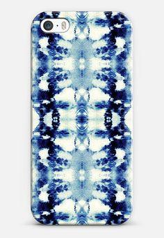 Tie-Dye Blues iPhone SE case by Nina May Designs   Casetify