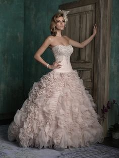 @Bellethemagazine wedding dresses | Allure Couture 2015 Collection | Floor Blush Ball Gown Sweetheart