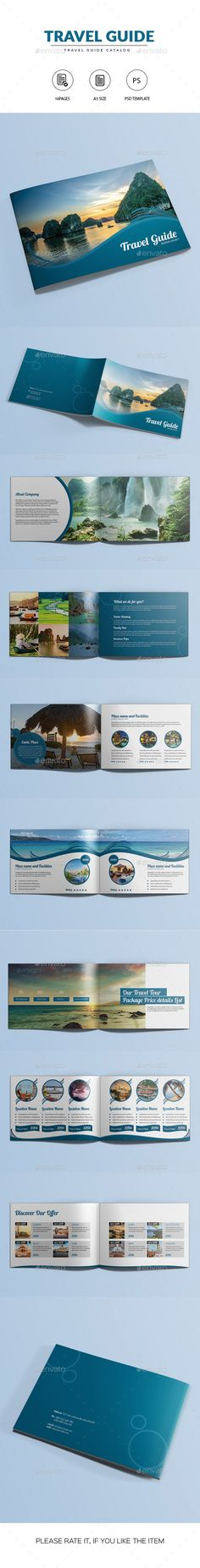 Travel Guide Catalog / Brochure PSD Template #design Download: http://graphicriver.net/item/travel-guide-catalogbrochure/12782744?ref=ksioks