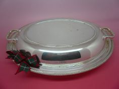 Solid Silver Entree Dish Walker & Hall Hallmarked 1950 32+ Troy Ounce
