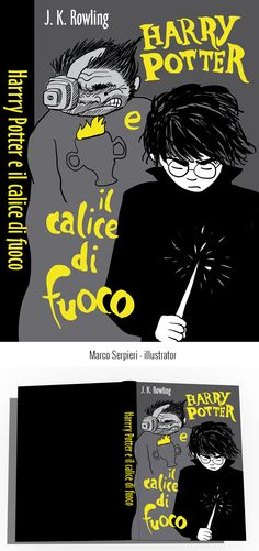 """Harry Potter e il calice di fuoco"" Rowling Serpieri, Book Covers, Harry Potter, Illustration, Books, Movie Posters, Movies, Art, Livros"