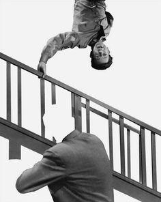 John Baldessari,  Stairway, Coat and Person