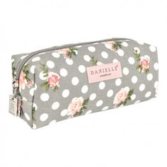 Grey Vintage Rose Pencil Case