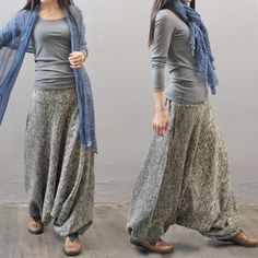 Women  autumn and winter cotton linen thickened pants - Buykud