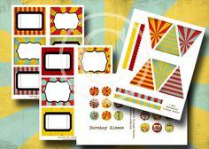 Vintage Circus Party Printables  Digital by EphemerasGarden, $7.35