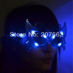 shipping 12pcs/lot Flashing Party LED Light Glasses mask glasses butterfly eyeglasses For Christmas Haloween Party
