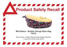 The most recent baby bean bag recall is particularly concerning as it involves a product designed specifically for newborn infants. Orange Bean Bags, Kids Bean Bags, Infant, Bubbles, Mini, Baby, Baby Humor, Baby Humor, Babies