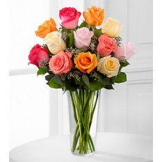 El Ramo de Belleza Graciosa Rose - FLORERO INCLUIDO (Bueno)