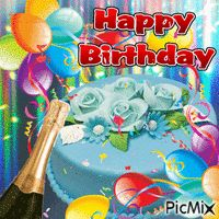HAPPY BIRTHDAY - PicMix Happy Birthday Wishes For A Friend, Happy Birthday For Him, Happy Birthday Flower, Happy Birthday Candles, Birthday Wishes Quotes, Happy Birthday Images, Birthday Cards, New Age, Belle Photo