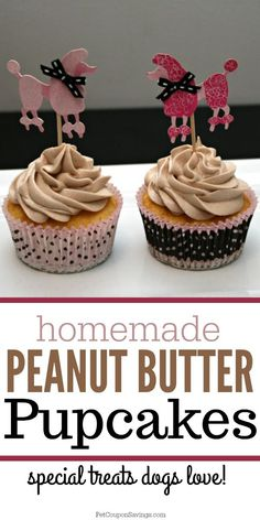 Healthy Dog Treats These homemade Peanut Butter Pupcakes are sure to become one of your dogs favorite treats! They would be perfect for a dog's birthday party celebration. Cupcakes For Dogs Recipe, Dog Cake Recipes, Dog Cupcakes, Dog Biscuit Recipes, Dog Treat Recipes, Dog Food Recipes, Pupcake Recipe For Dogs, Dog Cake Frosting Recipe, Easy Dog Cake Recipe