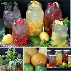 Naturally Flavoured Vitamin Waters - how to make infused water
