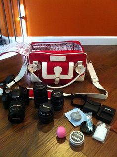 Cheeky Lime Classic Red Camera Bag