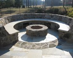 Seatwalls Around Firepit Design, Pictures, Remodel, Decor and Ideas - page 14    This would be cool....#sunken #backyard #firepit.