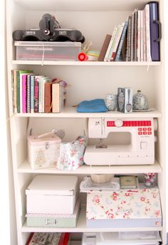 ikea billy bookcases for crafting supplies and tools. | my craft, Hause ideen