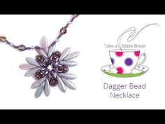Dagger Bead Necklace | Take a Make Break with Beads Direct - YouTube