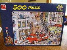 FIRE! Jan Van Haasteren Comic/Cartoon 500 pc JIGSAW PUZZLE by Jumbo complete…