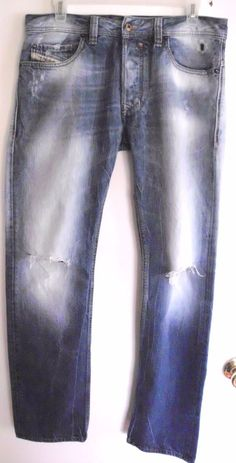 SAFADO Diesel 0827V Blue Eyecon Distressed Ripped Jeans Italy Made Sz 29x30 Men | Clothing, Shoes & Accessories, Men's Clothing, Jeans | eBay!