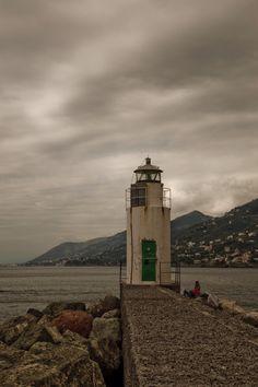 Camogli Lighthouse, Liguria, Italy-by Paul Fenis