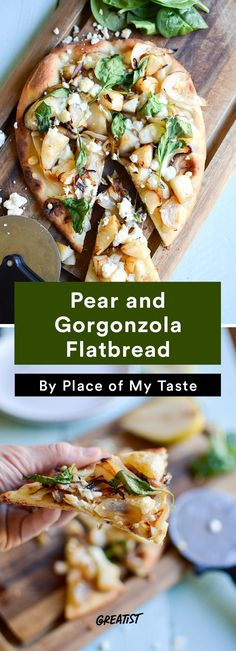3. Pear and Gorgonzola Flatbread #greatist http://greatist.com/eat/pear-recipes-that-are-perfect-for-fall