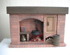 Most current Absolutely Free large Brick Fireplace Strategies Dolls House Red Brick Fireplace Tudor Medieval Colonial Walk In Style Large Dolls Ho Miniature Furniture, Doll Furniture, Dollhouse Furniture, Miniature Kitchen, Miniature Dolls, Mini Kitchen, Miniature Crafts, Miniature Christmas, Diy Dollhouse
