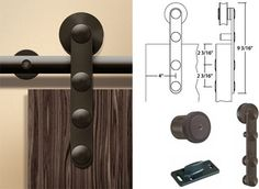 modern barn door hardware  - we can make our own sliding barn-style door!