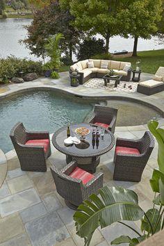Klaussner Outdoor Outdoor/Patio Cassley Dining Chair W1100 DRC - Klaussner Outdoor - Asheboro, NC
