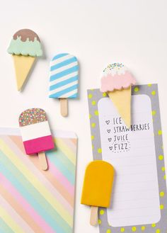 a set of ice cream fridge magnets Polymer Clay Magnet, Clay Magnets, Kids Magnets, Polymer Clay Crafts, Diy Clay, Clay Projects For Kids, Clay Crafts For Kids, Diy For Kids, Jar Crafts