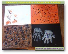 Halloween Inspired Hand & Finger Print Painting