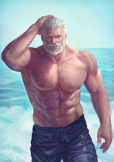 Hot Grandpa anyone? I cant 😂😂😂 Muscle Bear Men, Muscle Men, Reinhardt Wilhelm, Lgbt, Animated Man, Sexy Gay Men, Fantasy Art Men, Furry Comic, Gay Comics