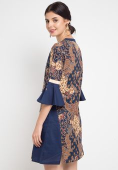 Dress Cheril_1 Blouse Batik, Batik Dress, Batik Kebaya, Batik Fashion, Hijab Outfit, Blouse Styles, Gossip Girl, Dress Skirt, Short Dresses