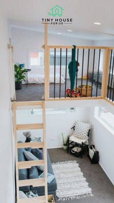 Coming in from New Zealand, this build is home to a mother and her growing toddler daughter who was 9 months old at the time of the build. They wanted to keep the space open and fresh, while making it safe for a toddler (no easy feat!!). Read more here! #tinyhouseforus #tinyhouse #tinyhome #openspace #smallspace #momlife #toddler Buy A Tiny House, Tiny House Loft, Building A Tiny House, Modern Tiny House, Tiny Houses For Sale, Tiny House Living, Tiny House Plans, Tiny House Design, Tiny House On Wheels