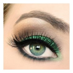 KELLY GREEN Cosmetic Glitter for Makeup, Eye Shadow, Lips, Nail... ($7.95) ❤ liked on Polyvore featuring beauty products