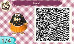 Halloween Boo Black Orange Sweater Skirt Samantha