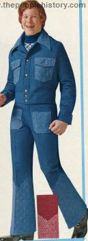 Did anyone actually wear this outfit? A friend? Neighbor? Eccentric relative? Quilted Denim Outfit 1972