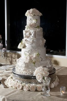 Victorian Draped  Wedding cake- all edible and gorgeous!