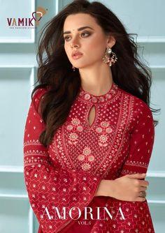 Price Per Piece :- ₹1195 Minimum Order :- 6 Pcs Full Set Price :- *₹7,170 + ₹359 (GST 5%)* *Fabric Description* 👗Top :- Maslin Silk Inner :- Heavy Royal Crape All Designs Size :- S(36), M(38), L(40), XL(42), XXL(44), XXXL(46) Party Wear Long Gowns, Party Wear Kurtis, Fancy Gowns, Fashion Studio, Girl Fashion, Embroidery Saree, Work Sarees, Fancy Sarees, Indian Ethnic Wear