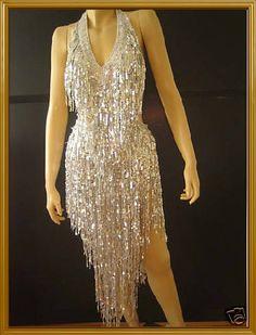 Custom Latin Salsa Shinny Fringe Drag Queen Dance Dress | eBay
