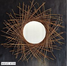 Shop twig mirror from west elm. Find a wide selection of furniture and decor options that will suit your tastes, including a variety of twig mirror. Funky Junk Interiors, Diy Wall, Wall Decor, Twig Art, Starburst Mirror, Diy Mirror, Mirror Crafts, Round Mirrors, Wall Mirrors