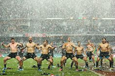 Sport picture of the day: rain dance We've all seen the haka performed by New Zealand. After winning the Hong Kong Rugby Sevens, however, they perfomed the dance in the midst of a torrential downpour