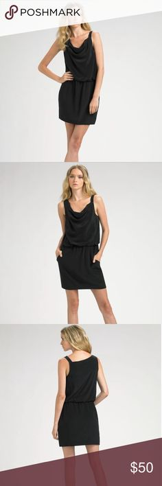 Theory Jaylyn Asymmetric Silk Dress Size 2 Asymmetrical drape front. Elastic waist. 2 slash pockets. Dry cleaned. Bought this dress right after I saw Kristen Wiig wearing it in Red in the movie Bridesmaids! Actual pictures to come Theory Dresses