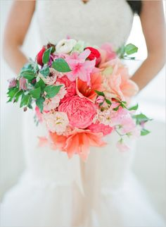 spring floral bouquet Pink And Gold Wedding, Floral Wedding, Wedding Flowers, Pink Sparkly, Bride Flowers, Sparkle Wedding, Orange Wedding, Gold Sparkle, Pink Glitter