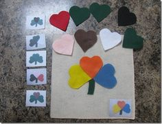 Best Toys for Toddlers: Homemade Toys for Toddlers - Felt Board Play Sets DIY & Inspiration March Crafts, St Patrick's Day Crafts, Spring Crafts, Toddler Learning Activities, Toddler Preschool, Preschool Crafts, Toddler Classroom, Preschool Ideas, Classroom Ideas