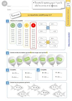 CP:NUMERATION CALCUL.Le répertoire additif jusqu'à 9 Montessori, Occupation, Grande Section, Alphabet, Language, Exercise, Map, Activities, Kids