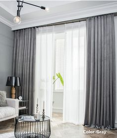 Many colors. A Pair Of Luxury Velvet Curtains Made to Order. Living Room Decor Curtains, Living Room Blinds, Home Curtains, Modern Curtains, Living Room Windows, Big Window Curtains, Velvet Curtains Bedroom, Floor To Ceiling Curtains, Sliding Door Curtains