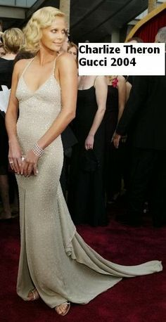 Charlize Theron, Oscar red carpet 2004 by Gucci