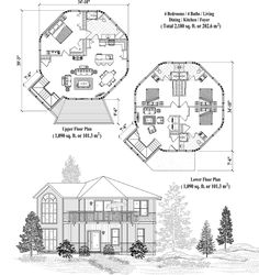 Two-Story Collection TS-1101 (2180 sq. ft.) 4 Bedrooms, 4 Baths