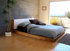 lax bed and headboard from mash studios