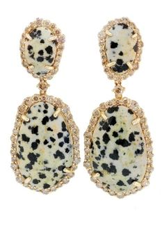 leopard jasper and champagne diamond earrings by phillips frankel (uh no)